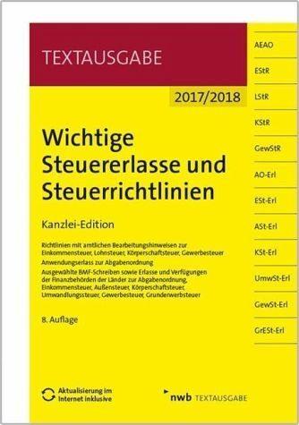 Broschiertes Buch »Wichtige Steuererlasse und Steuerrichtlinien«
