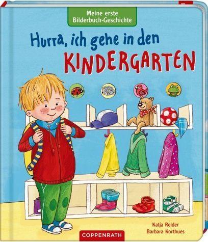 Buch mit Papp-Einband »Meine erste Bilderbuch-Geschichte: Hurra, ich...«