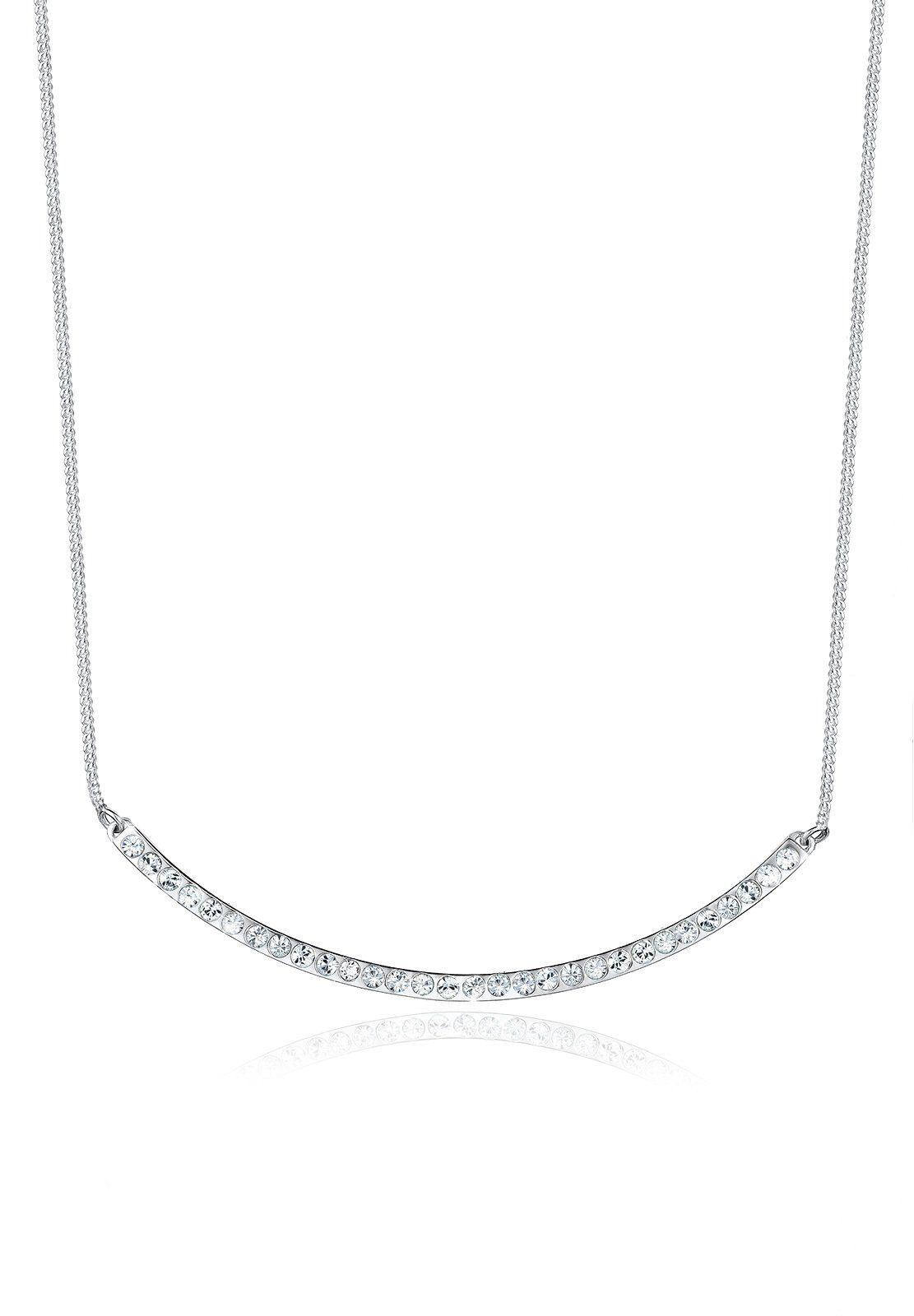 Elli Halskette »Bogen Minimal Swarovski® Kristalle 925 Silber«