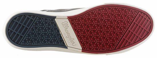 Wrangler Starry Low Denim Sneaker, im angesagten Used-Look