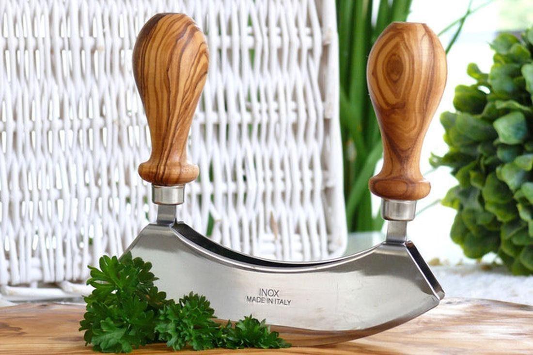 Olivenholz-erleben Wiegemesser »Design«, in Handarbeit gefertigt