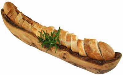 Olivenholz-erleben Brotschale, Olivenholz, aus Olivenholz