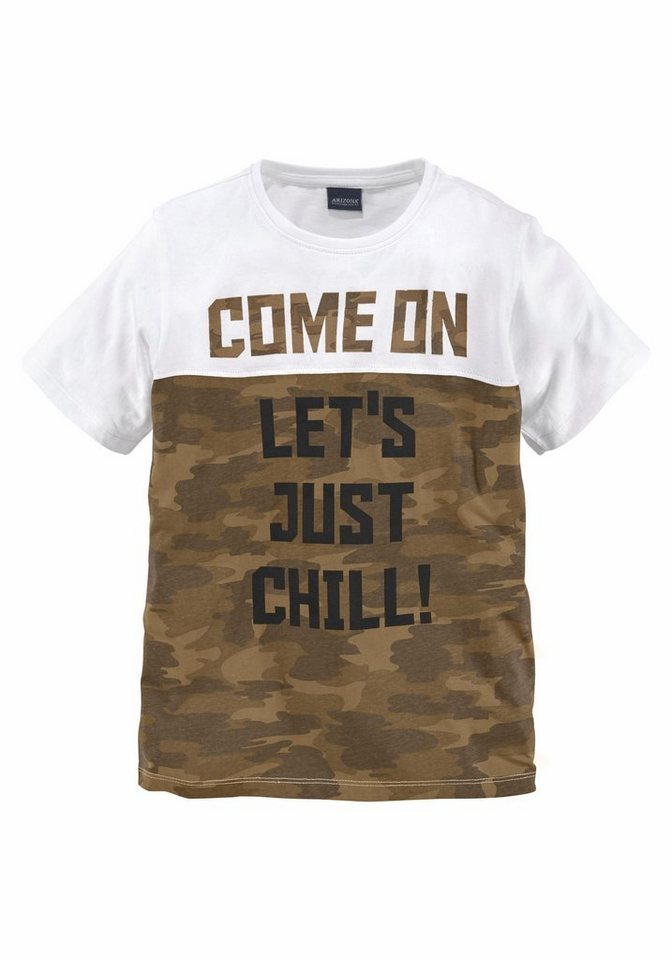 arizona t shirt mit druck come on let s just chill. Black Bedroom Furniture Sets. Home Design Ideas