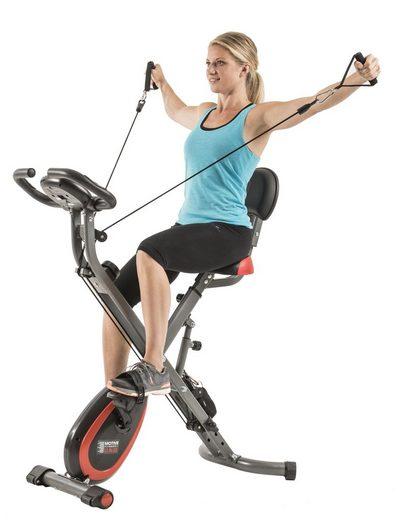 MOTIVE FITNESS by U.N.O. Heimtrainer »Multi-Function X-BIKE«, inkl. Seilzug für Arme und Beine