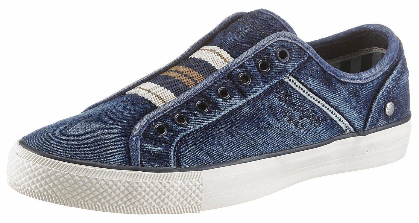 Herren Wrangler Starry Slip On Sneaker mit Ziernähten blau | 08054701830284