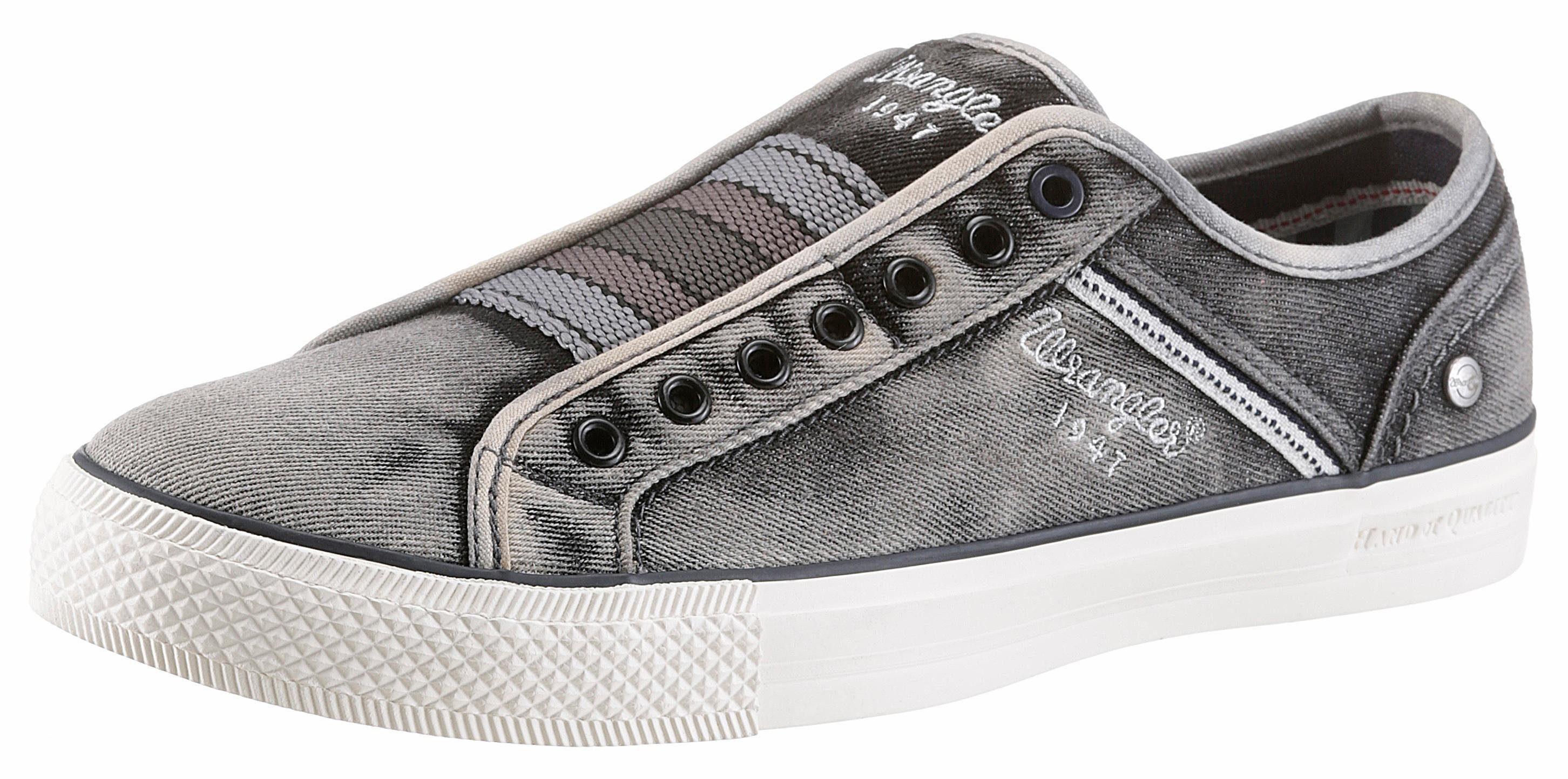 Wrangler »Starry Slip On« Sneaker, mit Ziernähten, grau, 44 44