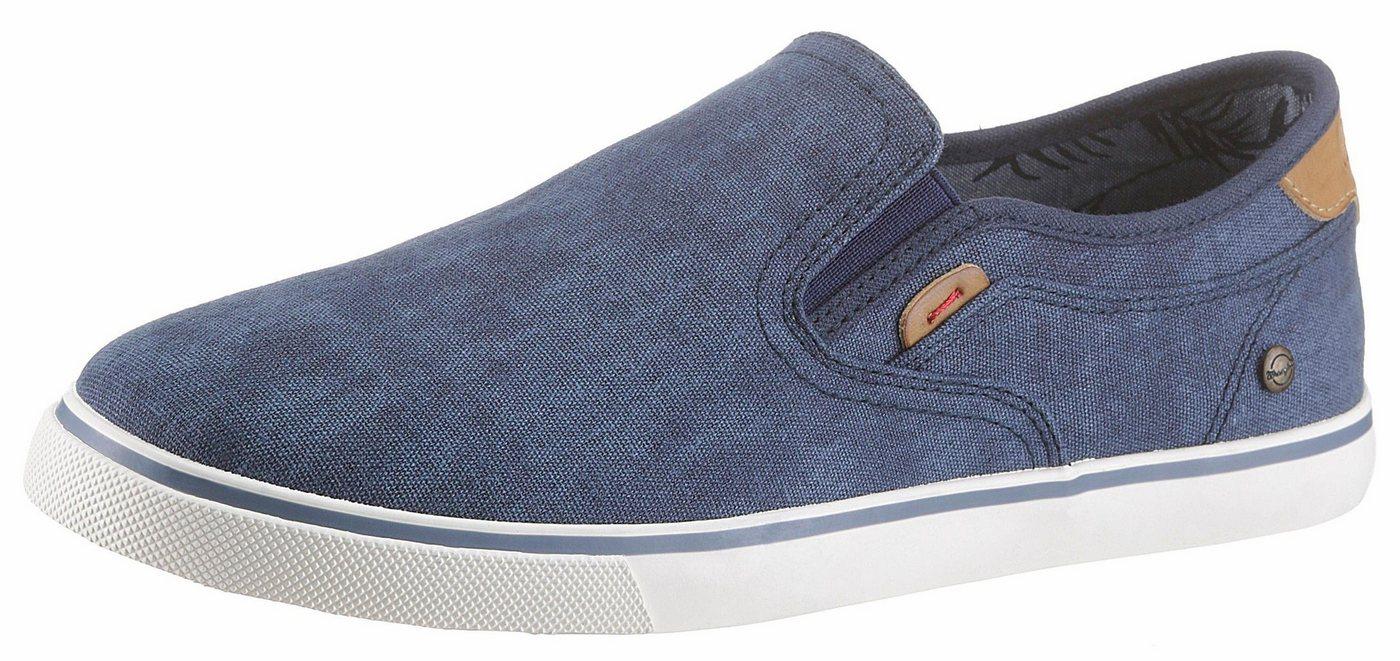 Herren Wrangler Mitos Slip On Sneaker zum Schlupfen blau | 08054301886001