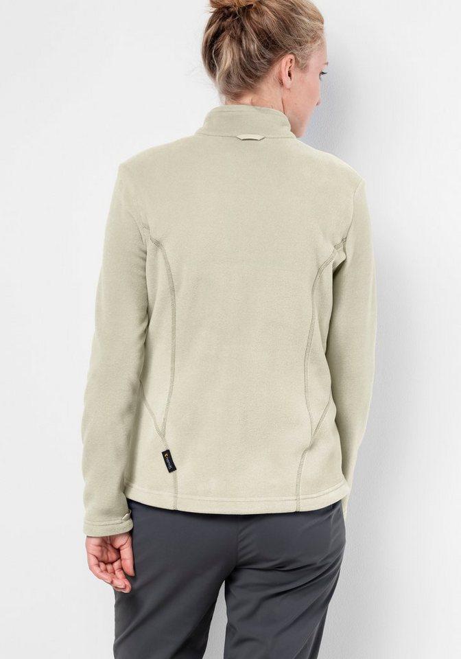 Damen Jack Wolfskin Fleecejacke W MOONRISE JKT blau, grau, weiß | 04055001461547