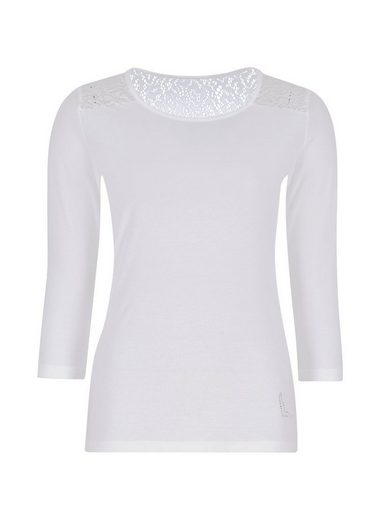 Trigema Lace Shirt With Crystals Swarovski®