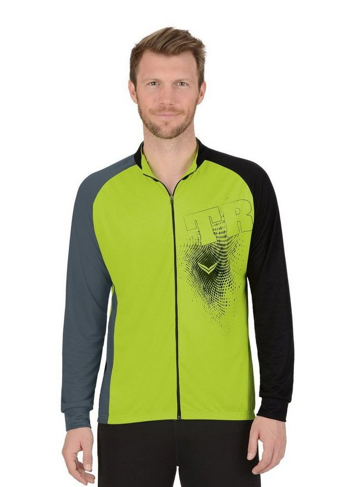 TRIGEMA Langarm Radjacke COOLMAX® | Sportbekleidung > Sportjacken > Fahrradjacken | Gelb | Polyester | Trigema