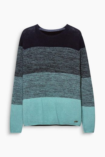 EDC BY ESPRIT Colourblock-Pullover aus Baumwolle