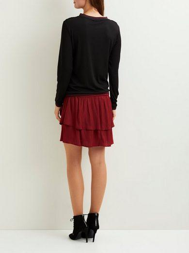 OBJECT Rüschendetail- Pullover