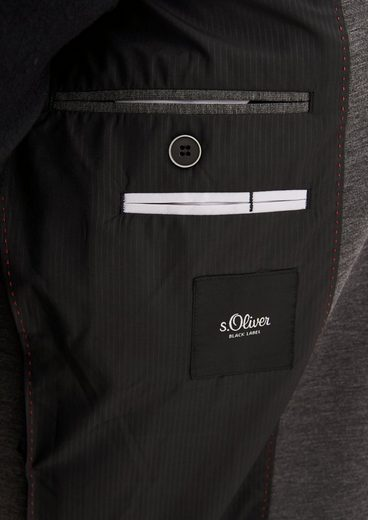 s.Oliver BLACK LABEL Jogg Suit: Meliertes Anzugsakko