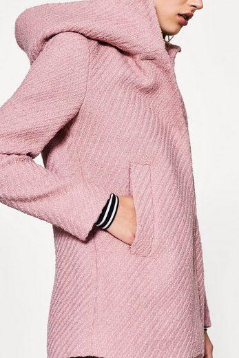 ESPRIT Strukturierte Jacke mit Wollanteil