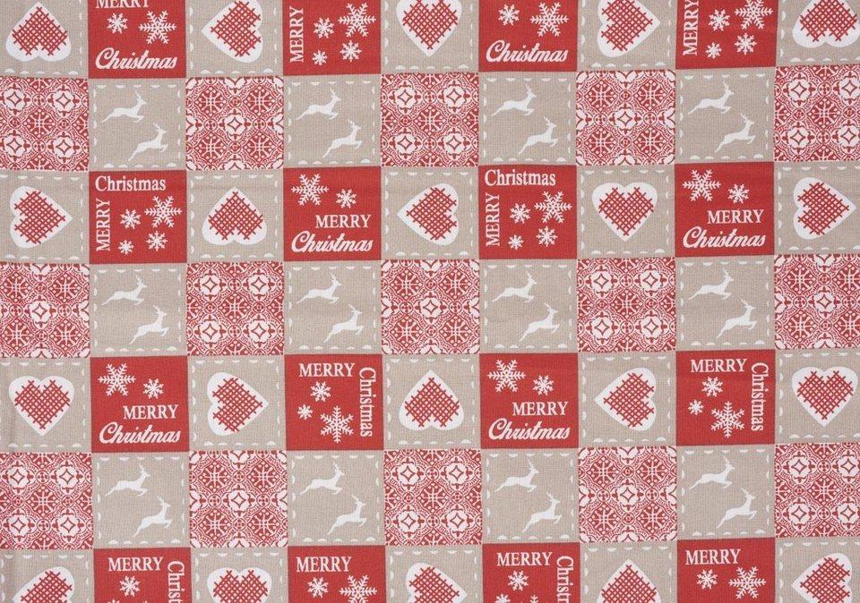 """Zweigart Baumwoll-Stoff """"Merry Christmas"""" 160 cm breit (Meterware) online kaufen"""