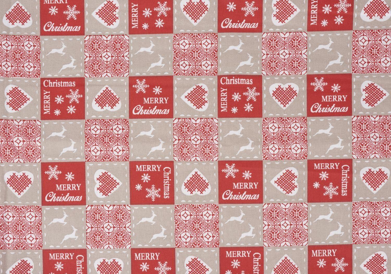 "Zweigart Baumwoll-Stoff ""Merry Christmas"" 160 cm breit (Meterware)"