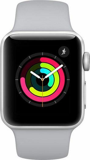 Apple Watch Series 3 GPS, Aluminiumgehäuse, 38mm mit Sportarmband