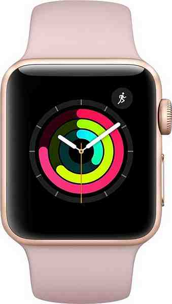 Apple Watch Series 3 GPS, Aluminiumgehäuse, 38mm mit Sportarmband