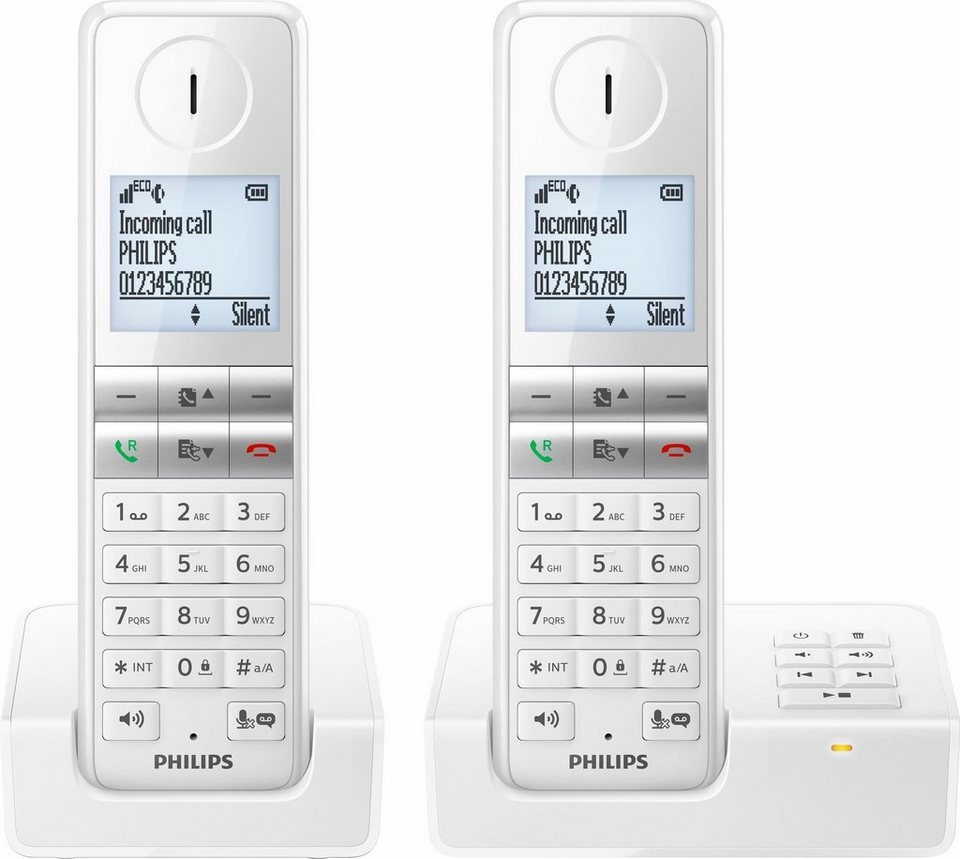 philips d4652 duo schnurloses dect telefon set mit ab. Black Bedroom Furniture Sets. Home Design Ideas