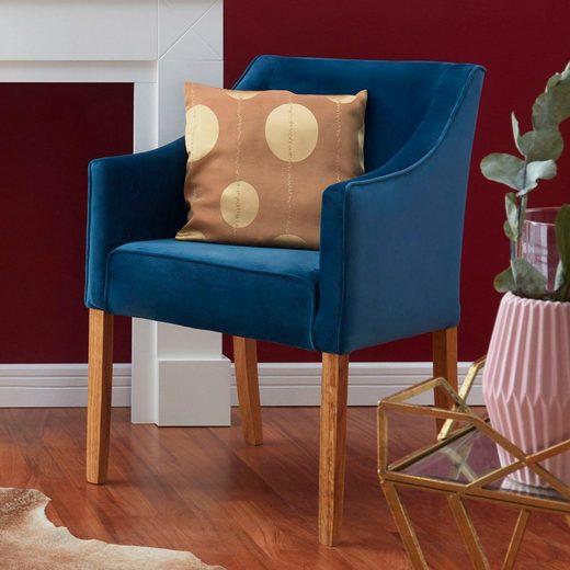 Home affaire 4-Fußstuhl »Leonor« 5 Farben zur Auswahl, mit äußerer Paspel