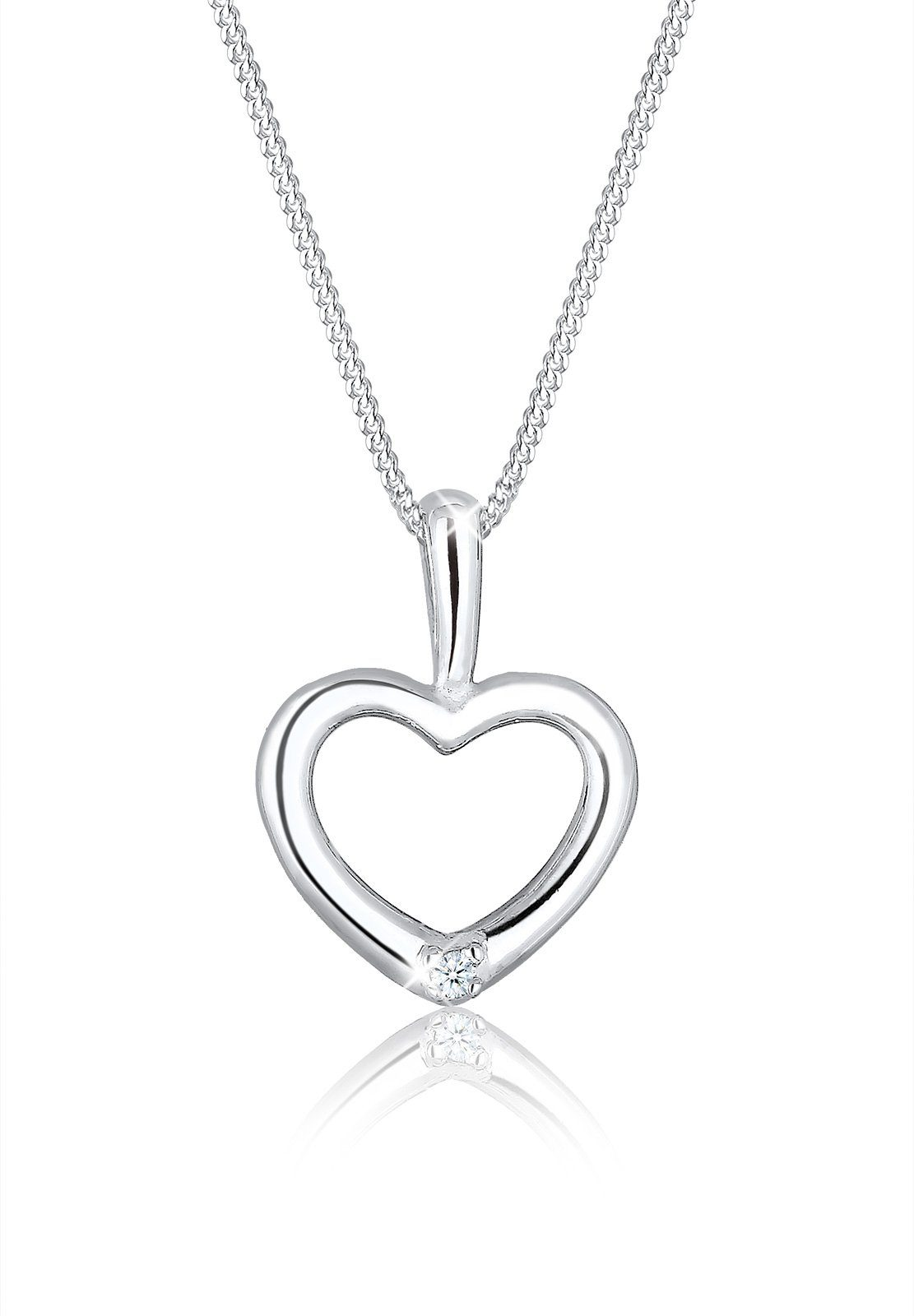 Diamore Halskette »Herz Diamant 925 Sterling Silber S0111861215«