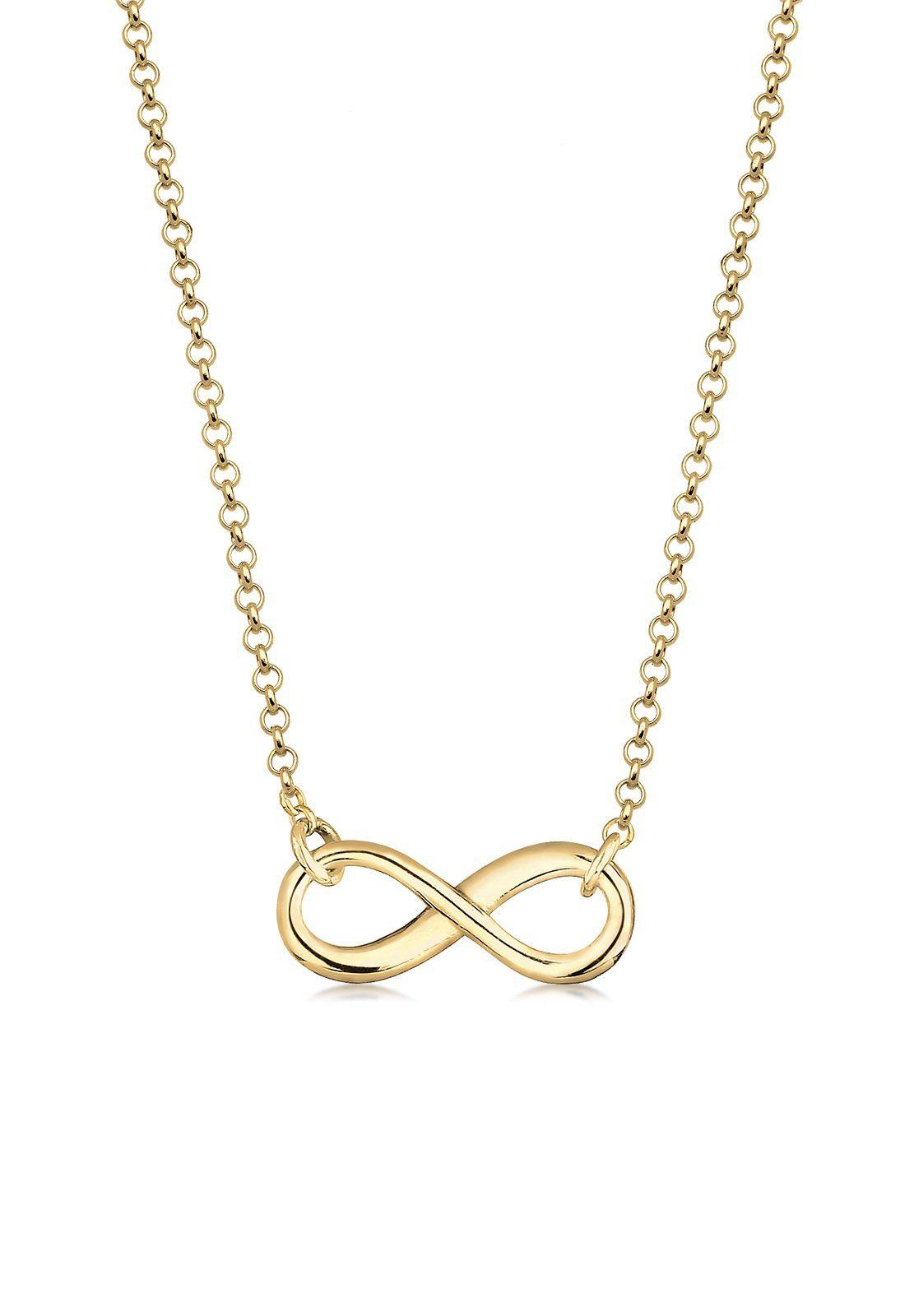 Elli Halskette »Infinity Unendlichkeit Symbol 375 Gelbgold«