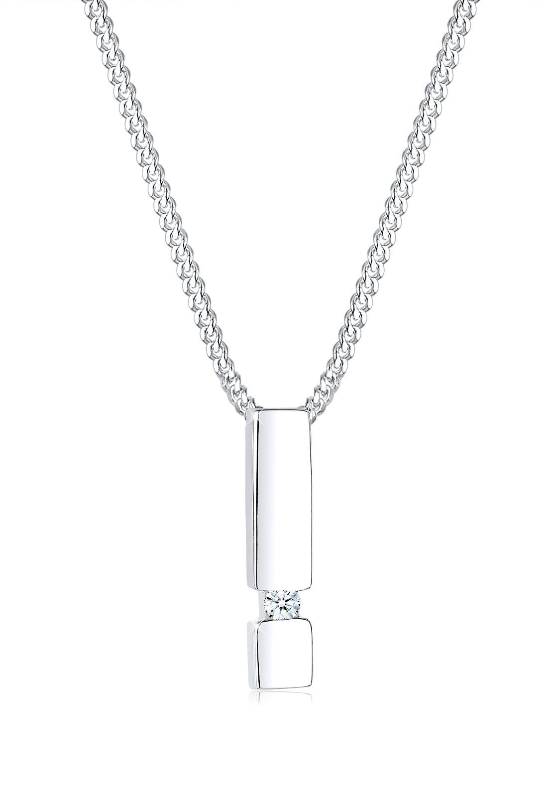 Diamore Halskette »Stab Diamant 925 Sterling Silber«