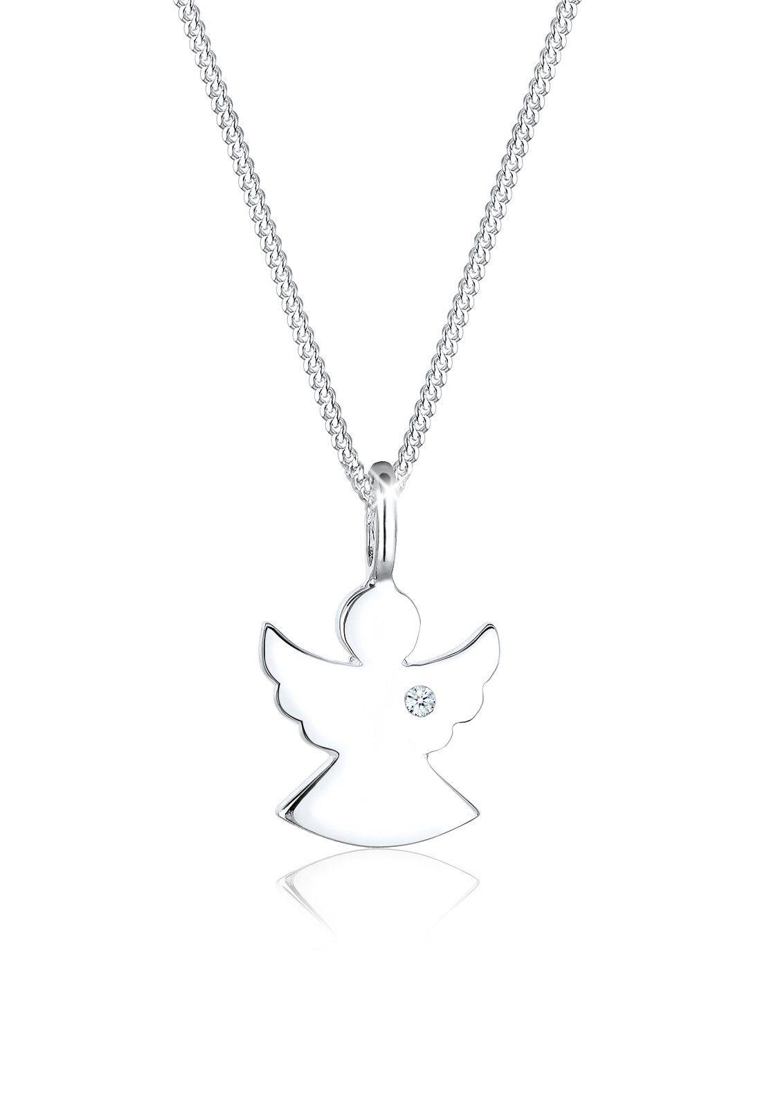 Diamore Halskette »Schutz Engel Diamant (0.02ct) 925 Sterling Silber«