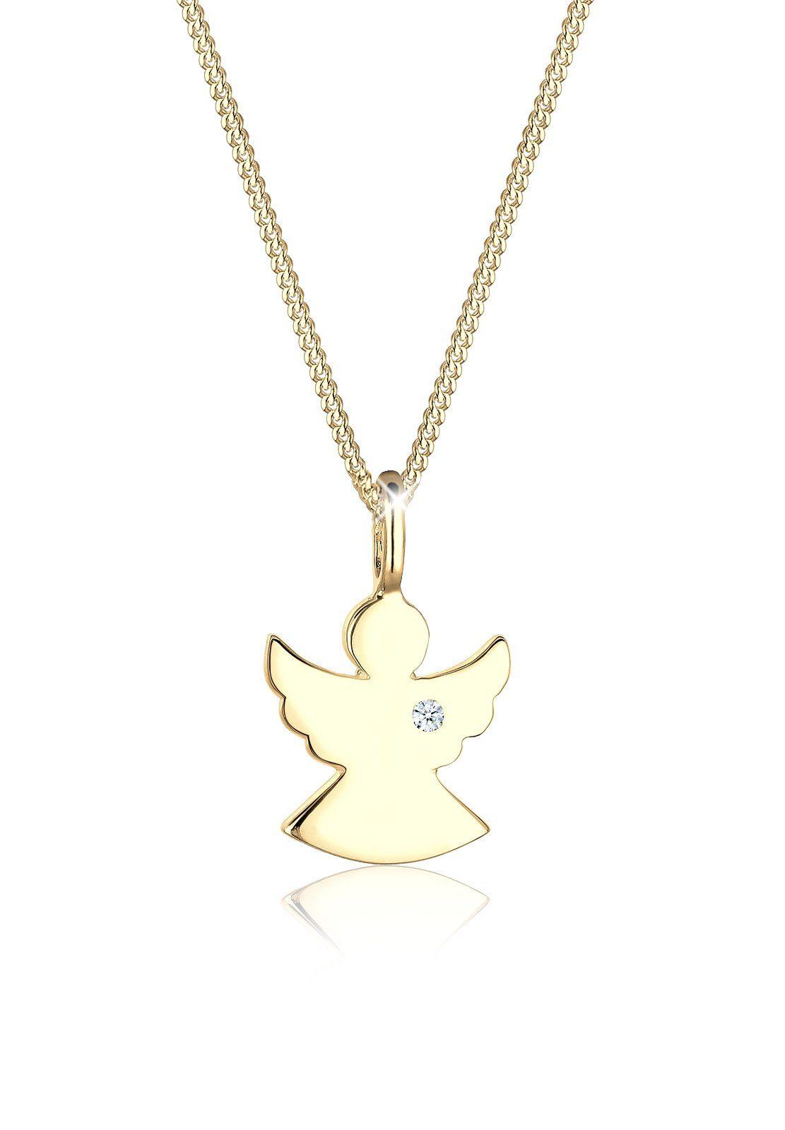 Diamore Halskette »Engel Schutz Diamant (0.02 ct.) 585 Gelbgold Sunny«