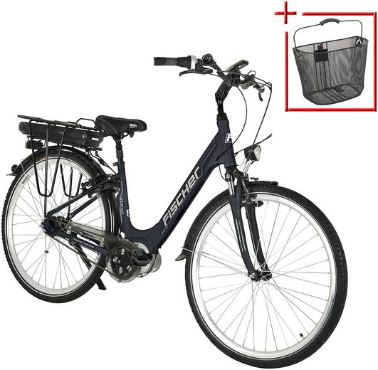FISCHER FAHRRAEDER E-Bike City Damen »ECU1803«, 71,12 cm (28 Zoll), 7 Gänge, 396 Wh, Mittelmotor