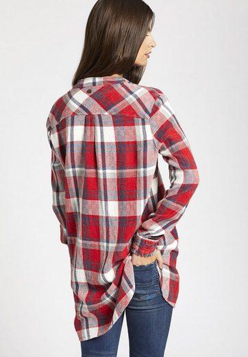 khujo Hemdbluse BELE, mit verlängertem Rücken