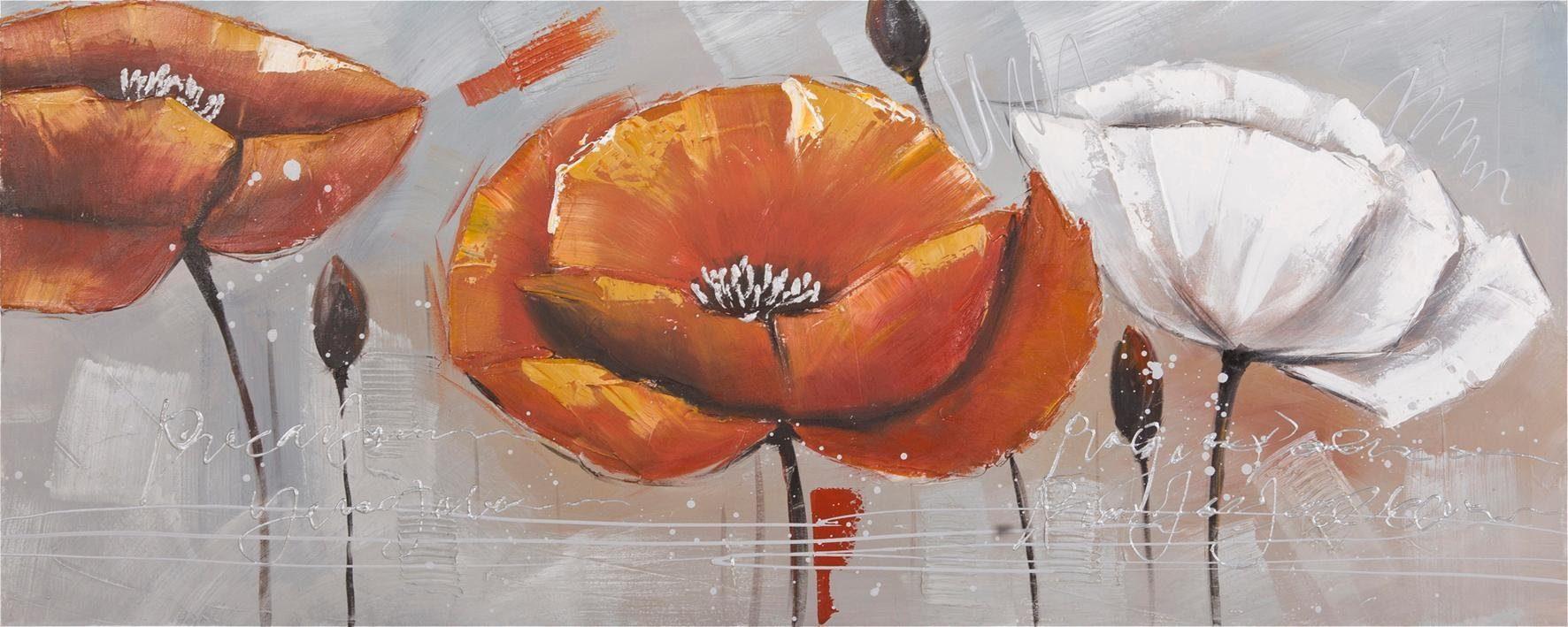 Premium collection by Home affaire Gemälde »OrangeFlower«, 150/60 cm