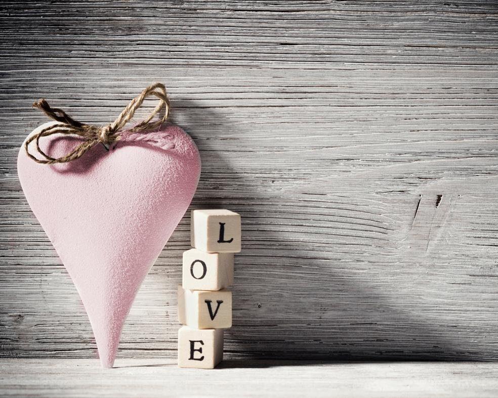Home affaire Leinwandbild »Heart Love Pink« 50/40 cm