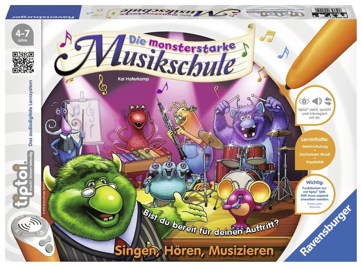 Ravensburger Lernspiel, »tiptoi® Die monsterstarke Musikschule«