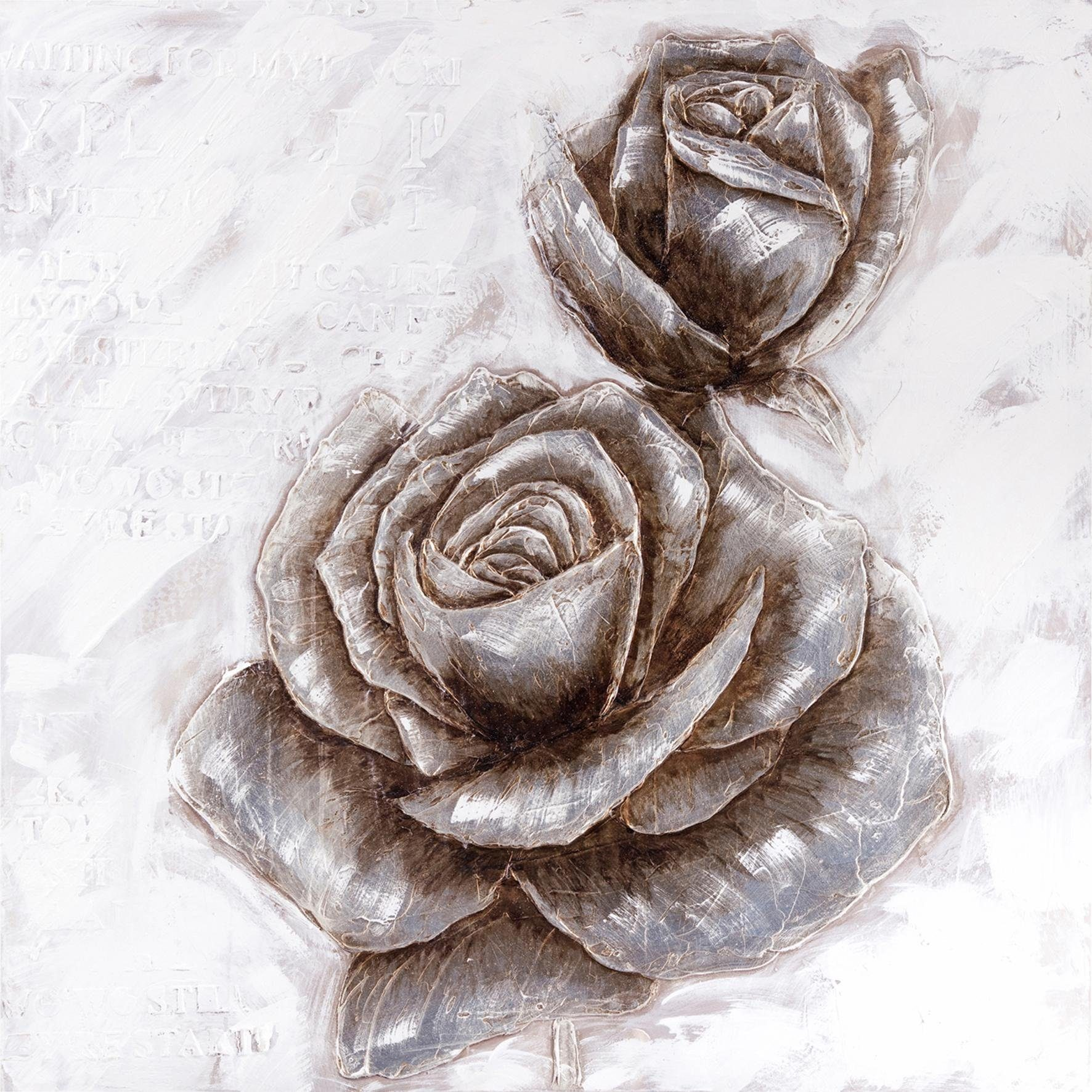 Premium Collection by Home affaire Original Gemälde »Roses« 100/100 cm