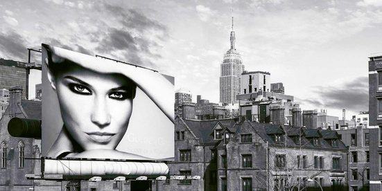 Places of Style Deco-Panel »JULIAN LAUREN / A Billboard in Manhattan«, 100/50 cm