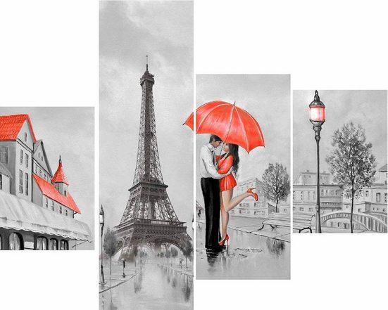 INOSIGN Wandbild »RUMIN / Paris Love«, (4 Stück), 2x 25/35, 1x 20/60, 1x 30/60 cm