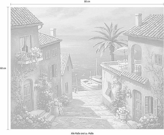 Home affaire Leinwandbild »SUNG KIM - The Villa´s Private Dock«   Dekoration > Bilder und Rahmen > Bilder   home affaire