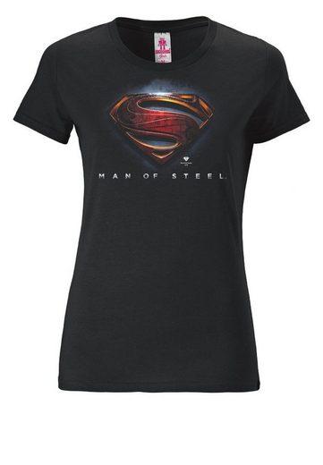 LOGOSHIRT Damenshirt Superman - Man Of Steel