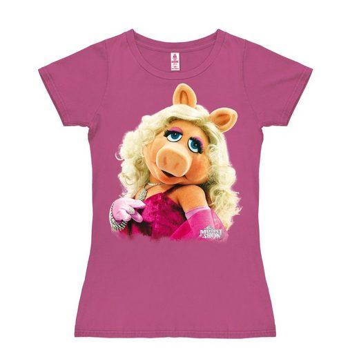 LOGOSHIRT Damenshirt Miss Piggy - Portrait