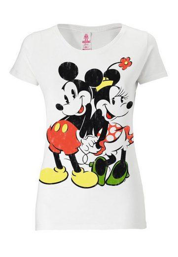 LOGOSHIRT Damenshirt Mickey Mouse