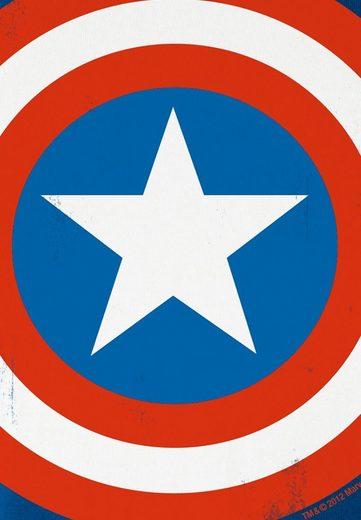 Logoshirt Damenshirt Capitaine Amérique