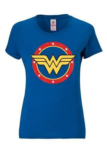 LOGOSHIRT Damenshirt Wonder Woman - Logo Circle
