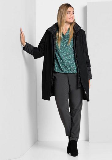 sheego Style Kurzmantel, in Woll-Optik