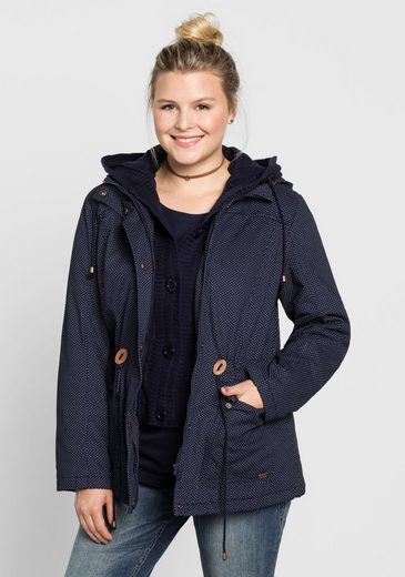 sheego Casual Outdoorjacke, Weitenregulierbar in der Taillie