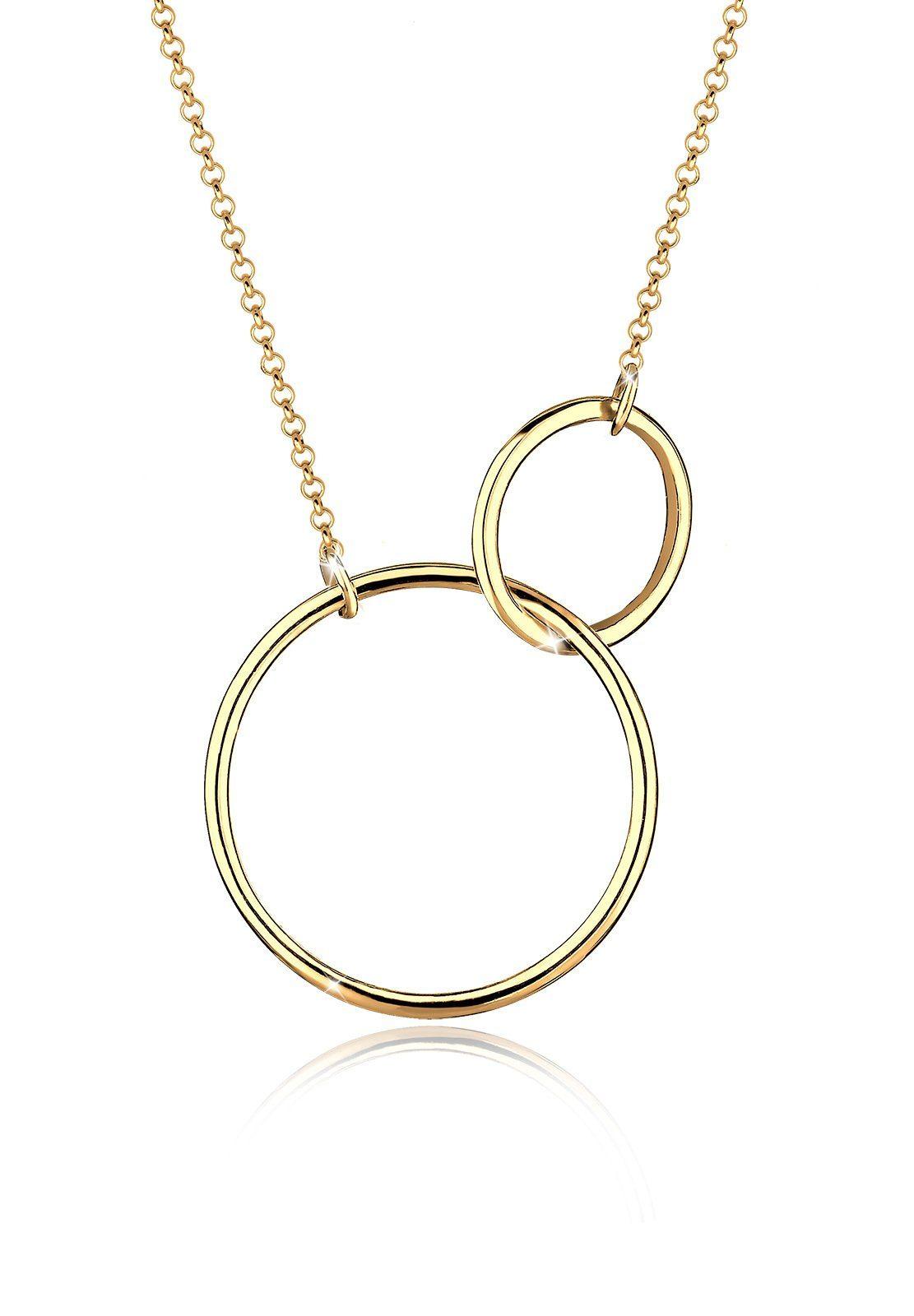 Elli Halskette »Kreis Rund Ring Geo Trend 925 Sterling Silber«