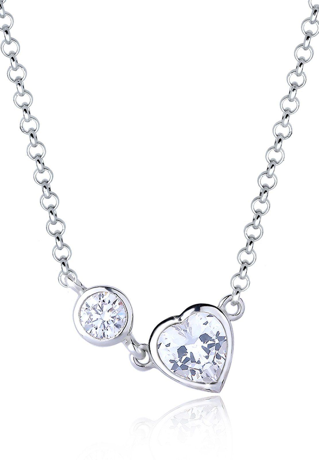 Elli Halskette »Herz Feminin Valentin Zirkonia 925 Sterling Silber«