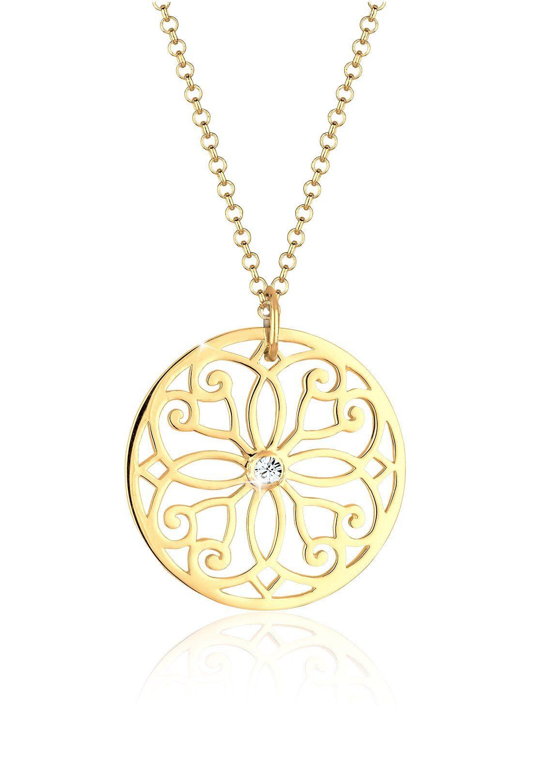 Goldhimmel Halskette »Ornament Swarovski® Kristalle 925 Sterling Silber«