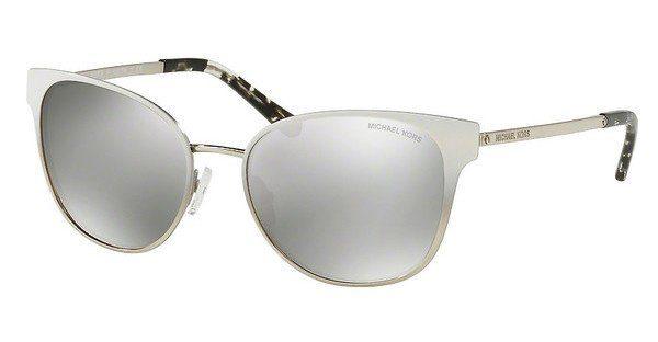 Michael Kors Sonnenbrille Mk1022, Uv400, silbern/weiß