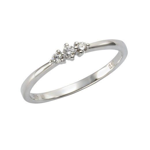 Orolino Ring »585/- Weißgold Brillant«